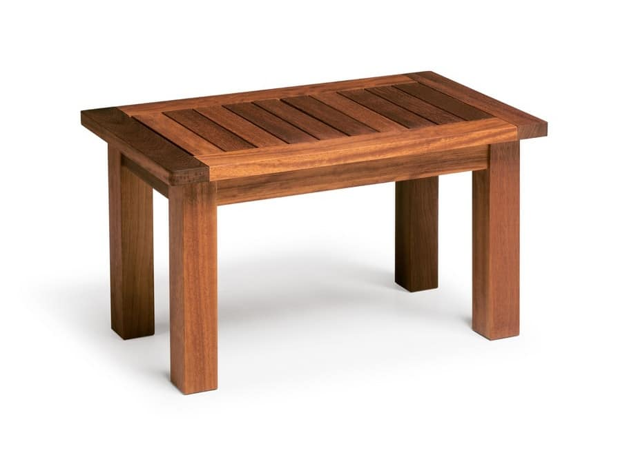 Sorrento/te, Tavolino in legno iroko, per uso esterno