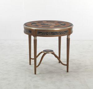 5647, Tavolino tondo, finitura in citronnier