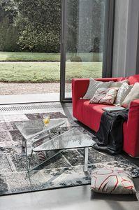 ALBATROS TLC05, Tavolino in vetro con elemento porta riviste