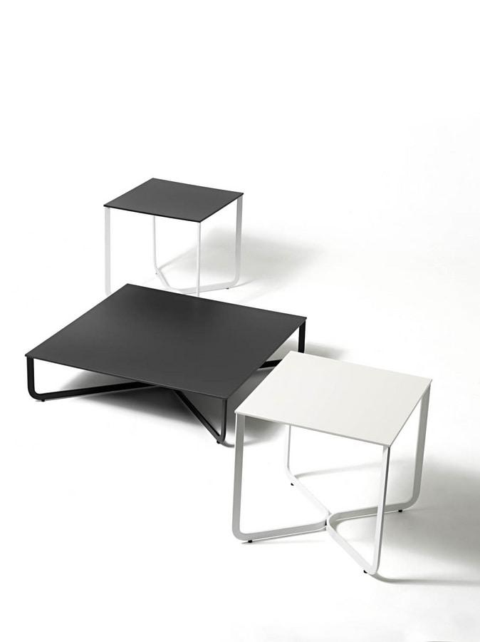 XS, Tavolino in tubo metallico, per albergo e studio medico