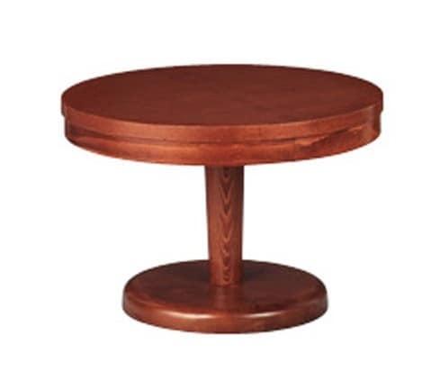 608, Tavolino basso rotondo, in faggio, per Zona giorno