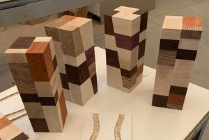ADONE, Tavolino moderno patchwork