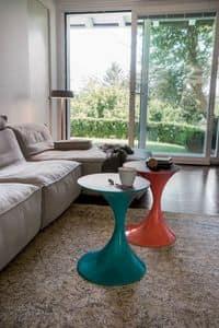ANDORRA, Tavolini design, piano legno o vetro, per salotto