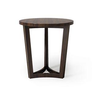 ART. 3368, Tavolino portalampada, con piano tondo