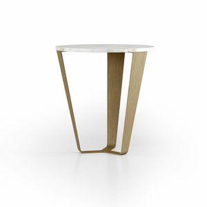ART. 3452, Tavolino tondo con piano in marmo
