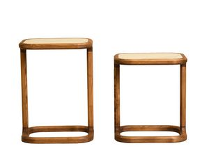 Bellagio 5626/F 5627/F, Tavolino in legno, piano in marmo