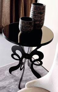Celine Art. 306, Tavolino tondo con base in ferro tagliato a laser