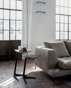CELINE, Servetto con base in metallo verniciato,  piano in rovere massello o laccato