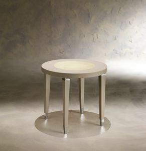 Dahlia 369T, Tavolino in legno con piano tondo