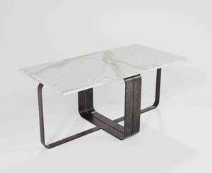 Dede, Tavolino modulare con base in ferro