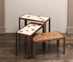 DOMINO HF2076CT, Tavolini in legno e ottone
