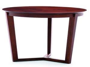 Flen 903 - 904, Tavolino tondo, fusto in faggio massiccio, piano in faggio o marmo