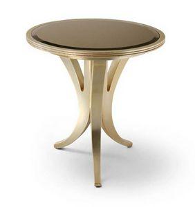 FLORA / tavolino tondo slim, Tavolino da salotto con piano rotondo