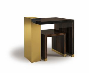 Hopper, Tavolini in ebano ed ottone