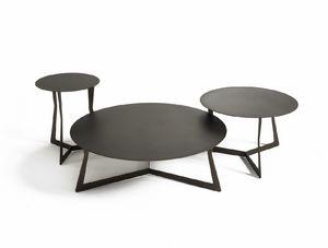 Planet, Tavolini tondi in metallo