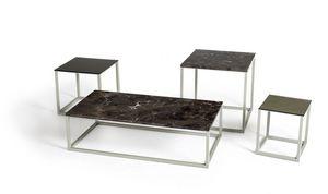 Square Less, Tavolini con base in metallo