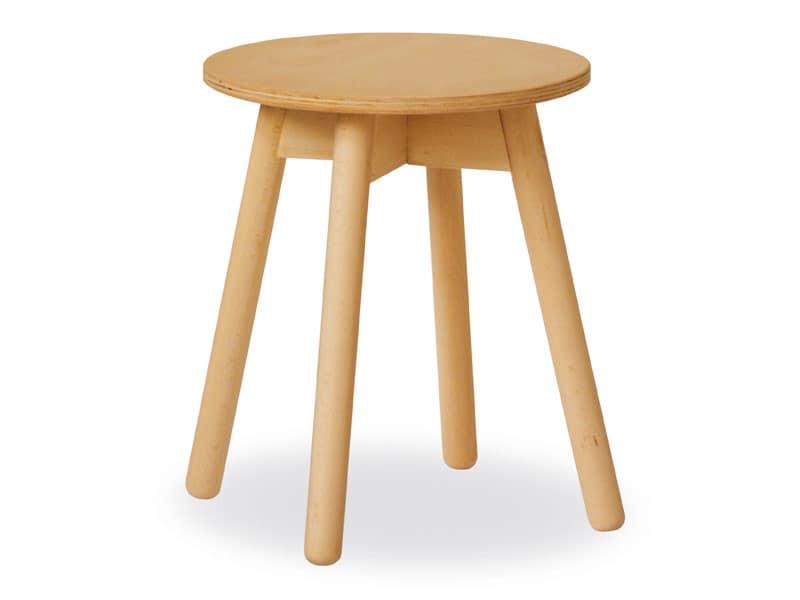Tavolino Tokyo, Tavolino semplice in faggio con piano in multistrato