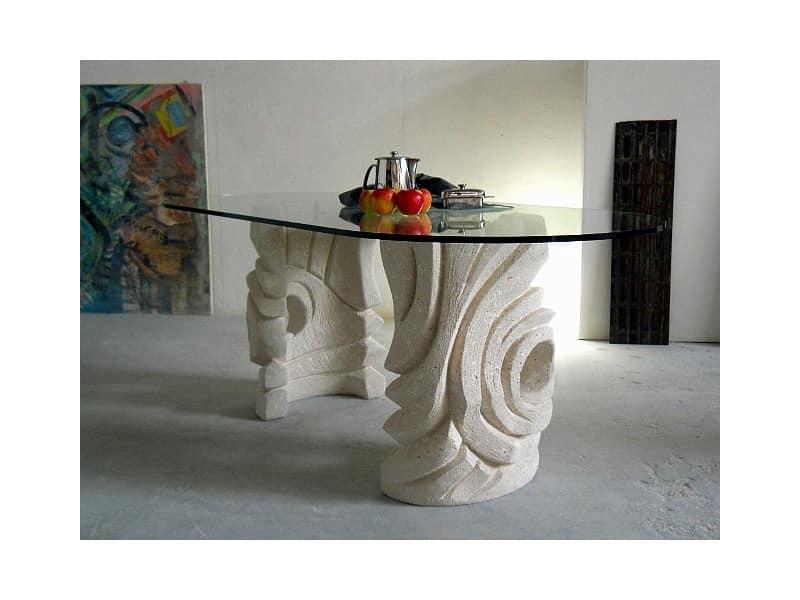 Niagara, Tavolo ovale in pietra per la casa o l'ufficio