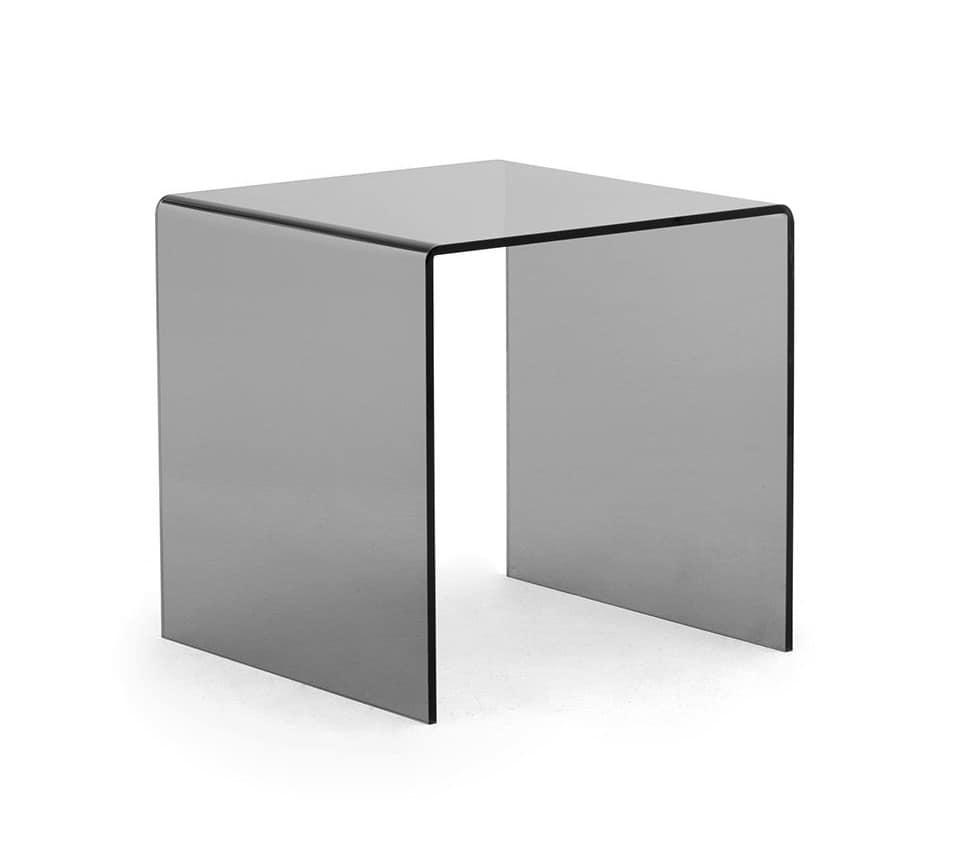 Tre-Di tavolino, Tavolino in vetro per sale attesa o uffici