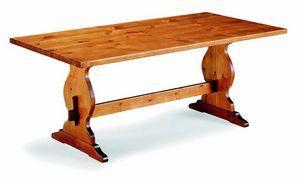 6160 Frattino, Tavolo rustico in legno di pino