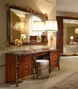 Donatello toilette, Tavolino di lusso, decorata a mano, per la camera da letto