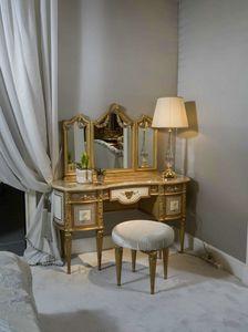 Toilette 3705 STILE LUIGI XVI, Coiffeuse per camera da letto di lusso