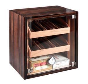 82370 Dakota, Vetrinetta umidificata per sigari, adatta per Tabaccheria