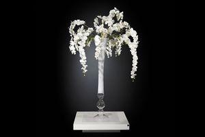 Eternity Vaso Madame Butterfly, Vaso in vetro con composizione floreale