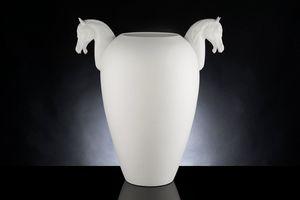 Horse Big Vaso, Vaso decorativo in ceramica lavorata