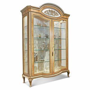 AGNES / vetrina, Lussuosa vetrina, con dettagli intarsiati
