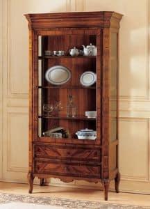 Art. 903, Vetrina in legno decorato, epoca '800 francese