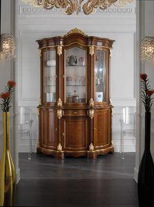 Brianza cristalliera 3 porte, Cristalliera classica, con frontali radica