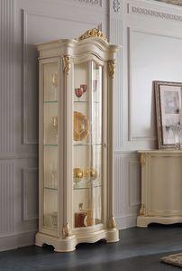 Brianza vetrina 1 porta tutta vetro, Elegante vetrina classica