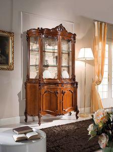 Chippendale cristalliera 2 porte, Cristalliera in stile classico