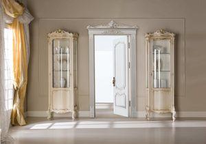 Chippendale vetrina 1 porta laccata, Vetrina classica, dalle dimensioni contenute