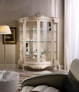 Chippendale vetrina 2 porte laccata, Vetrina stile classico laccata