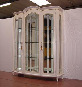 Hilton vetrina 3 ante, Vetrina classica, laccata avorio
