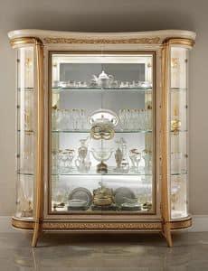 Melodia vetrina, Vetrina classica, con 1 o 2 ante, per sala da pranzo in stile