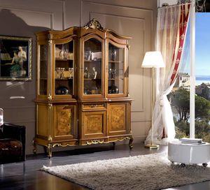Regency cristalliera 3 porte, Cristalliera in stile classico