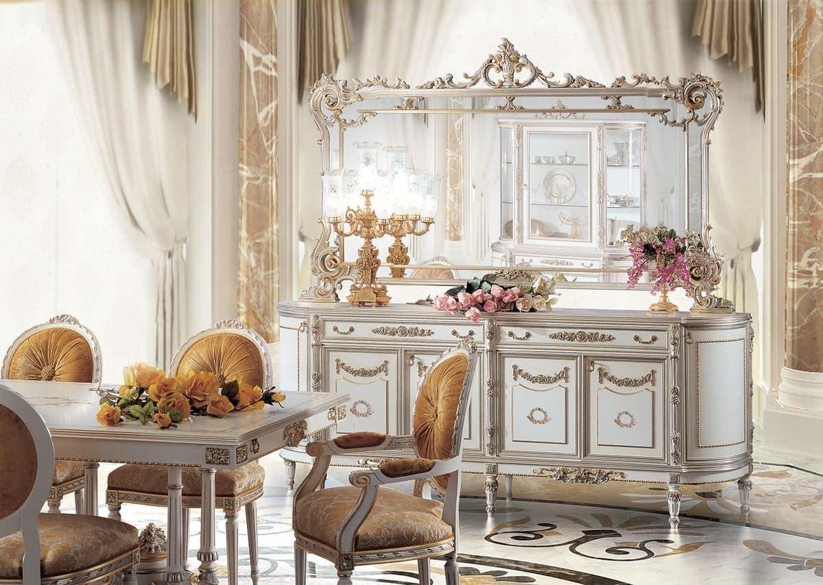 Mobiletto Sala Da Pranzo mobile credenza per sala pranzo in stile classico di lusso