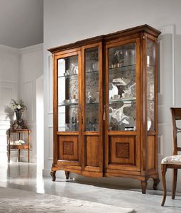 Vetrina 2 porte intarsio, Vetrina in stile classico