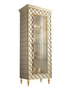 SIPARIO VETRINA  1, Vetrinetta classica di lusso con losanghe decorative