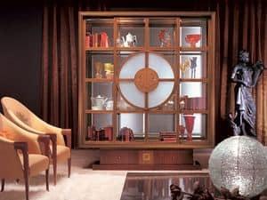 VL12 Il Quadro vetrina, Vetrina libreria, illuminazione interna,  in stile classico