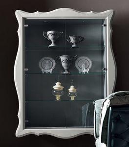 Alice Art. 532-G, Vetrina a muro, con ripiani in vetro