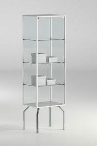 ALLdesign plus 51/17P, Teca espositiva per negozio, con profili in alluminio