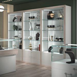 COM/QF17, Vetrine per negozi, con illuminazione integrata