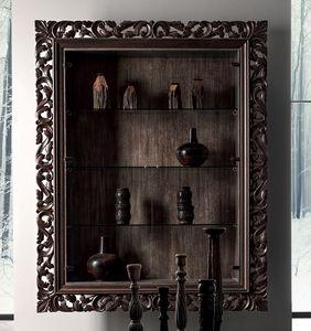 Gaston Art. 538-G, Vetrina da parete, con cornice intagliata
