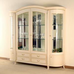 Hilton vetrina 4 ante, Elegante vetrina in stile classico