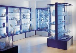 Overglass comp.01, Espositori, Vetrine componibili, Espositori accessoriabili Negozi, Negozio, Showroom