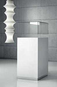 Quadratum Q/50 � Q/50CC, Mobile con vano espositore in cristallo o plexyglass